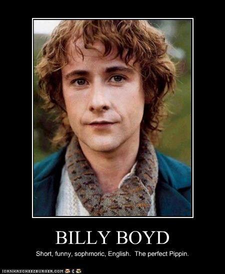 BILLY BOYD   Billy boyd, Hobbit and LOTR