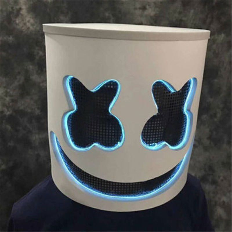 New MarshMello Mello DJ Mask Without Light Helmet for Halloween Cosplay Party