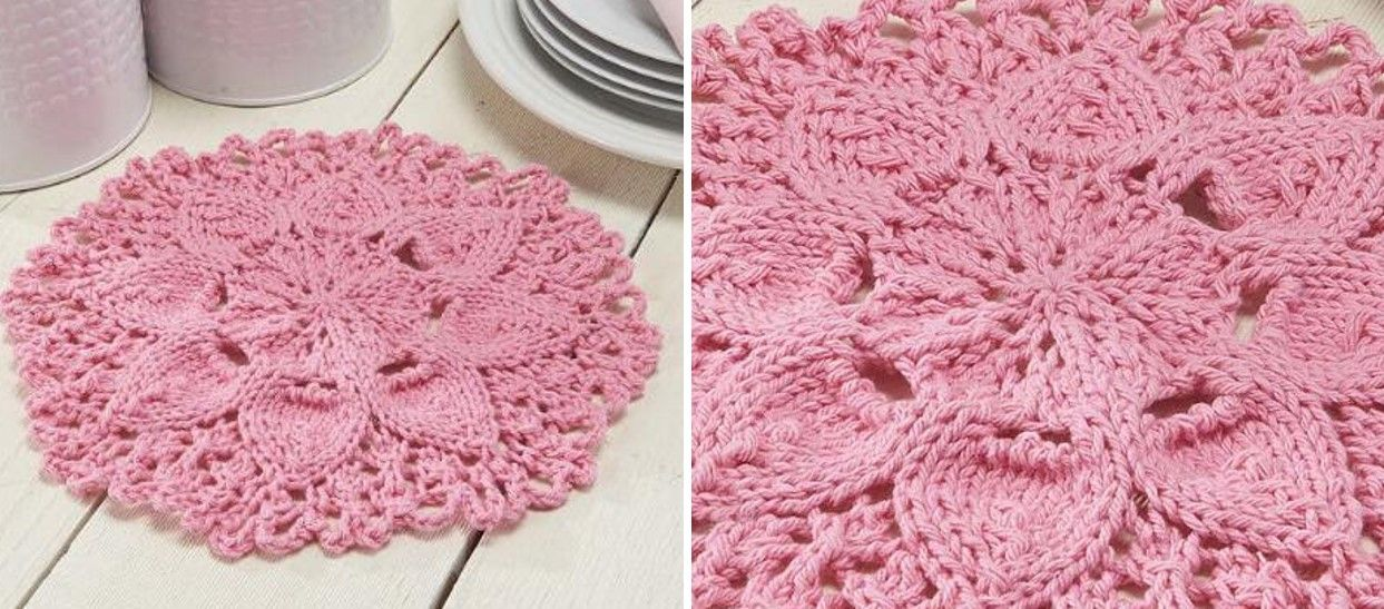 Zinnia Knitted Floral Dishcloth [FREE Knitting Pattern] | my crafts ...