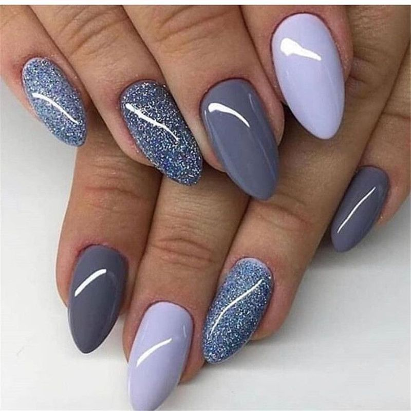 41 Best Winter Nails Design In 2020 Blue Nails Fall Nail Art
