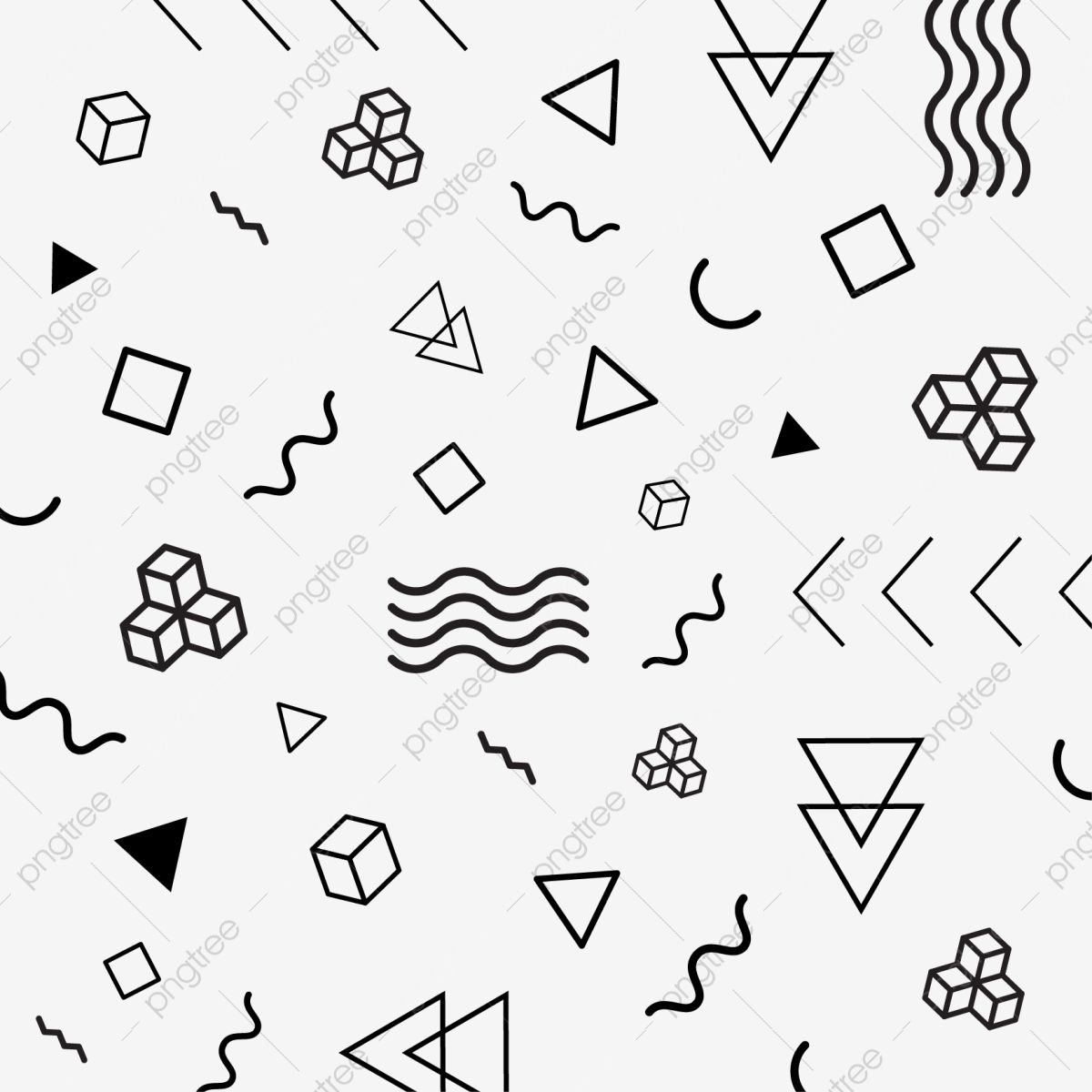 Modern Abstract Memphis Geometric Shapes Vector Vector Clipart Pattern Geometric Png And Vector With Transparent Background For Free Download Geometric Shapes Geometric Memphis