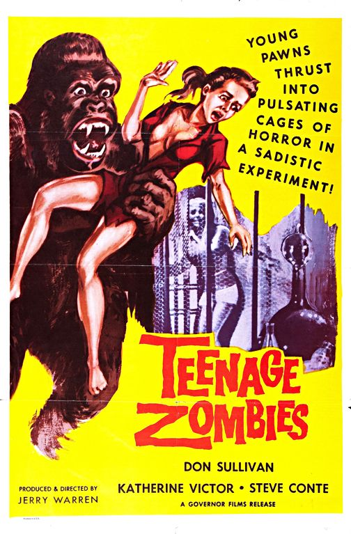 Teenage Zombies Vintage Horror Movie Wall Art Museum Outlets Movie Posters Classic Horror Movies Posters Zombie Movies