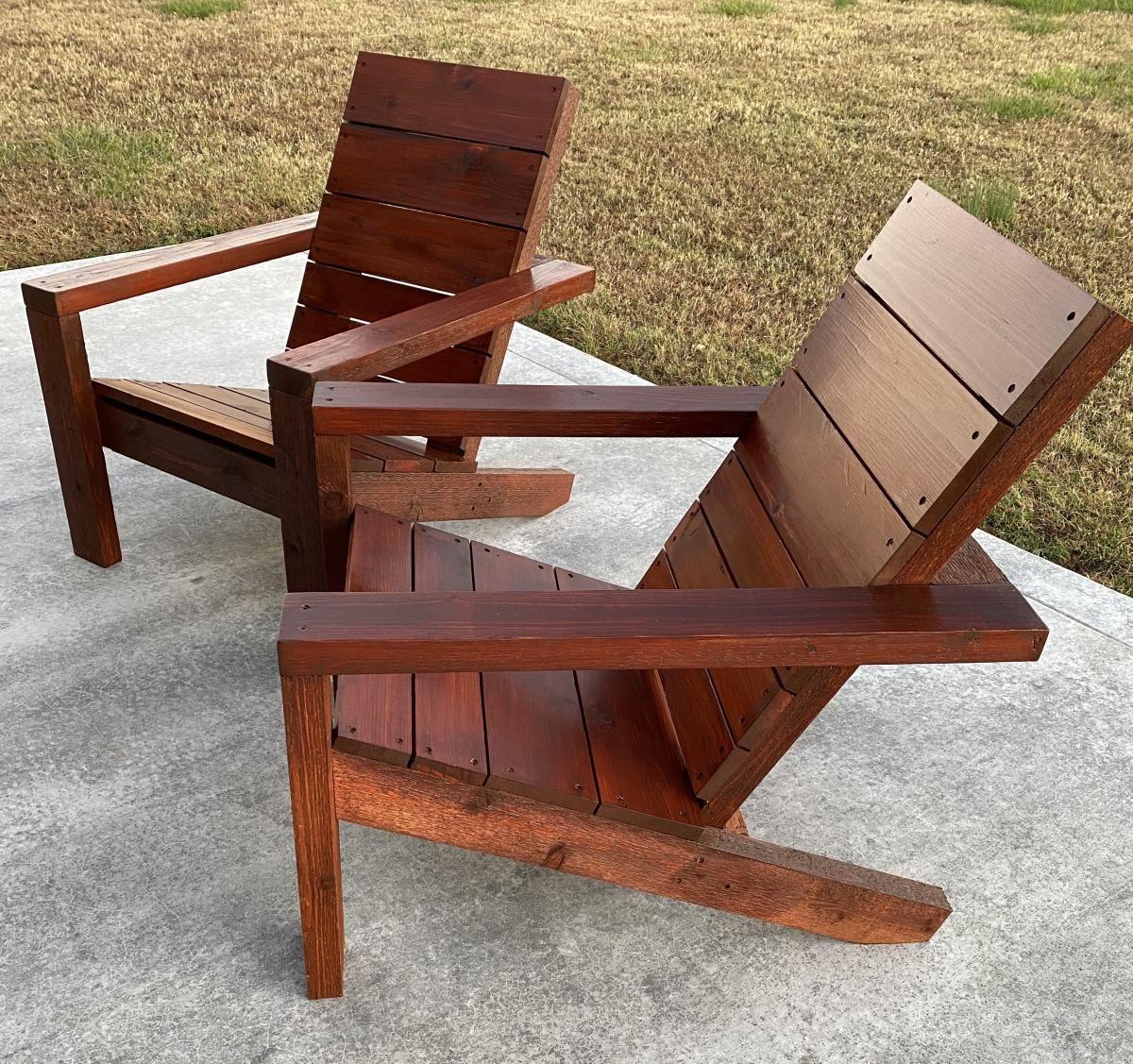 2x4 Modern Adirondack Chair Ana White In 2020 Modern Adirondack Chair Adirondack Chair Modern Adirondack