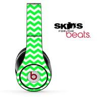 Lime Green Chevron Pattern Skin For The Beats By Dre Solo Studio