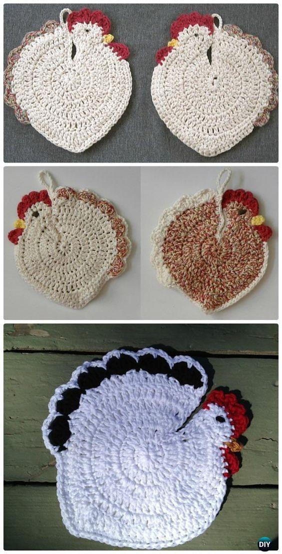 Easter Crochet Chicken Free Patterns | Setas, Adornos para la casa y ...