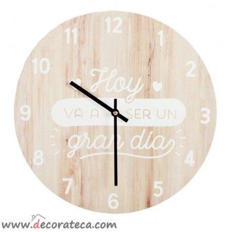 Relojes De Pared Originales Con Frases Bonitas Y Motivadoras En Espanol Madera Claros Relojes De Pa Relojes De Pared Relojes De Pared Originales Pared Moderna