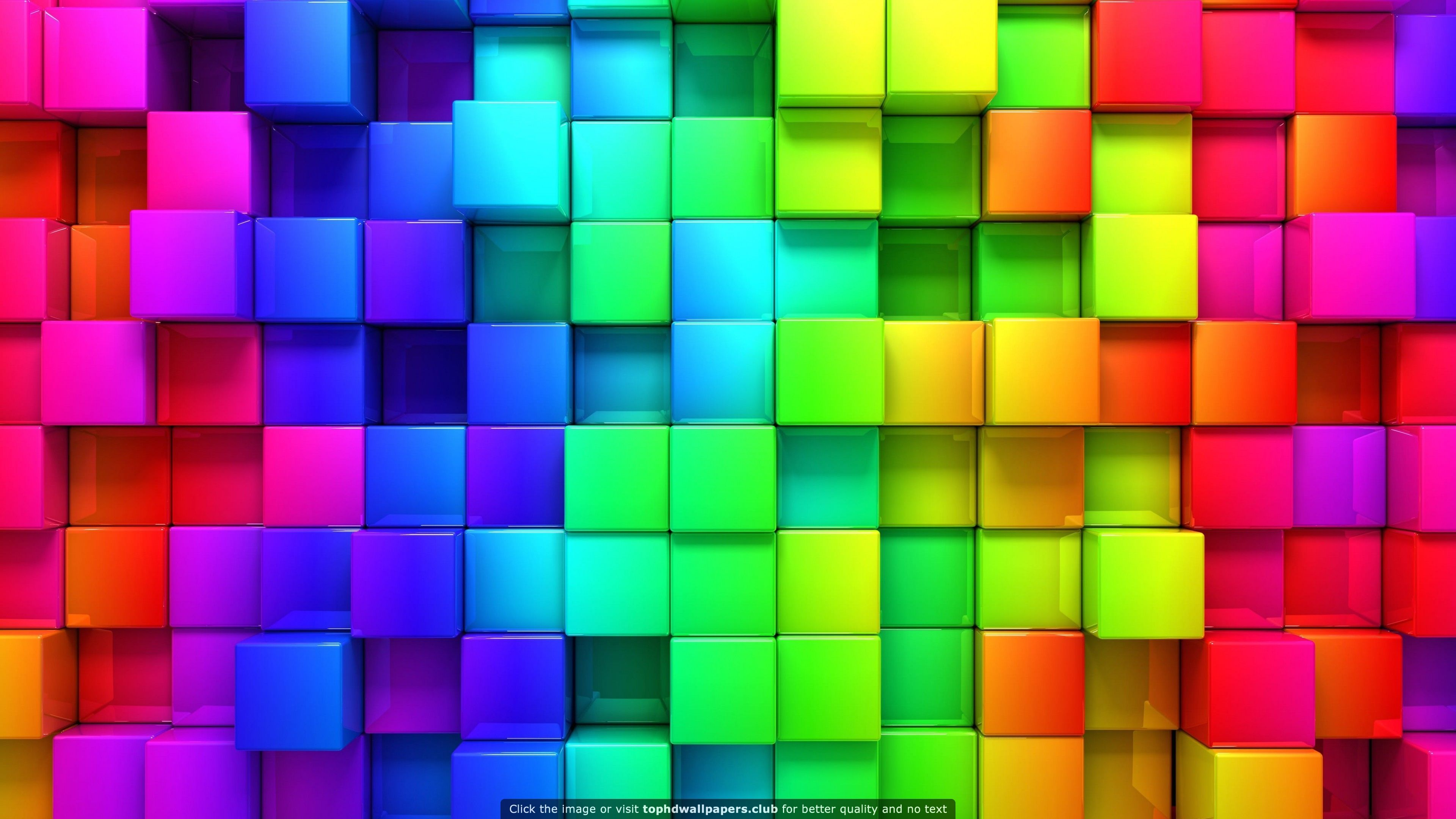 Cubic Rainbow Hd Wallpaper For Your Pc Mac Or Mobile Device