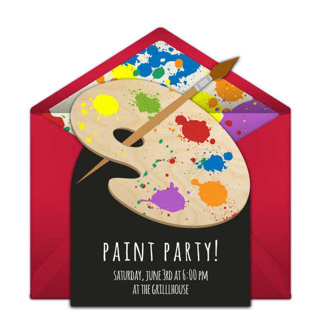Free Paint Party Invitations Birthday Ideas For Adults Art