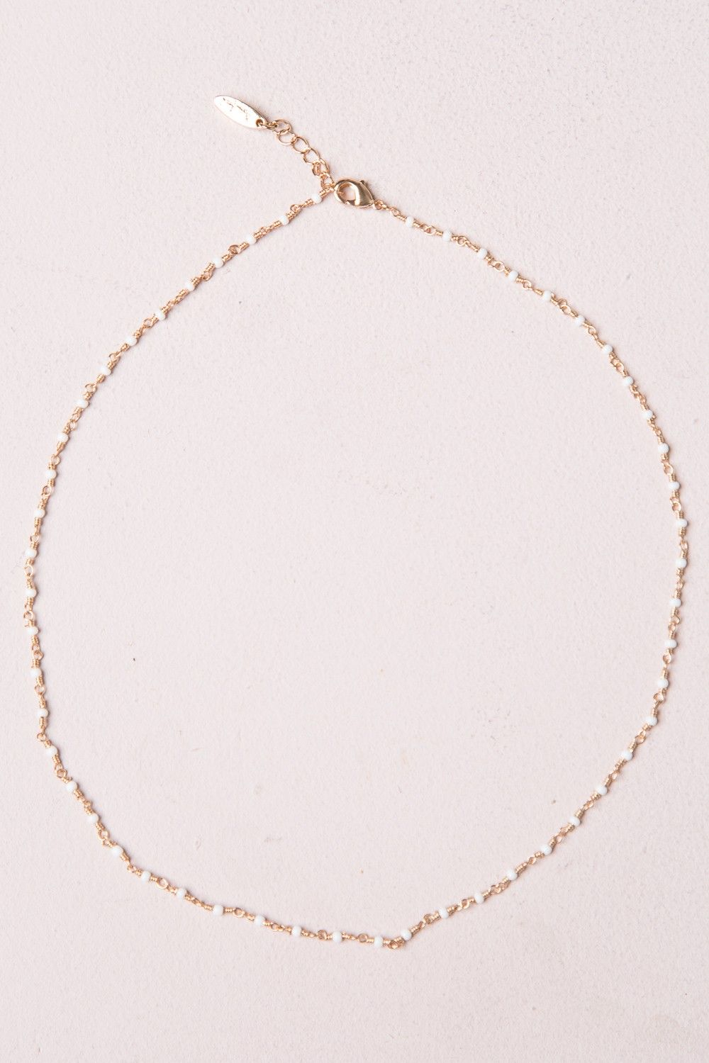 24899cac Brandy ♥ Melville | White Bead Necklace - Necklaces - Jewelry - Accessories