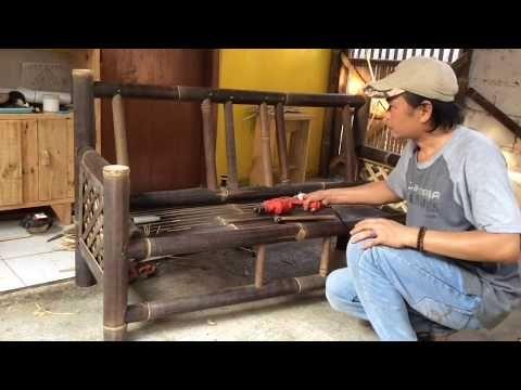 (57) cara membuat kursi dari bambu - youtube em 2020