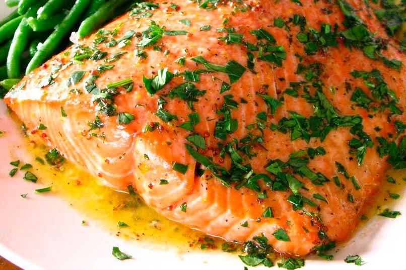 Receta De Salmón Al Ajillo Deliciosi Com Receta Ensalada Con Salmon Salmon Recetas Como Preparar Salmon