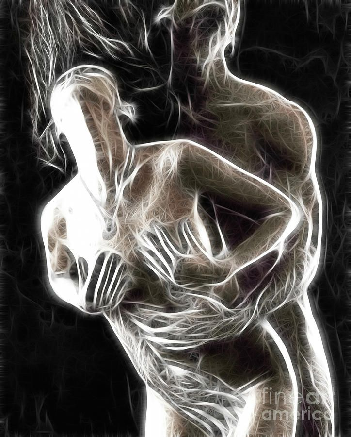 Art erotic couple making love