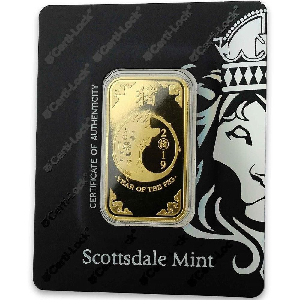 2019 1 Oz 9999 Gold Bar Lunar Year Of The Pig In Certi Lock Coa A466 Goldbars Gold Gold Bar Gold Bars For Sale Gold Rate Chart