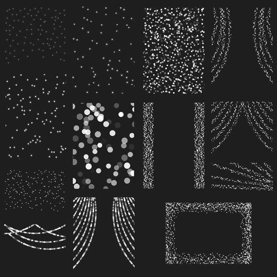 Bokeh String Lights Digital Clipart Overlay By ItGirlDigital