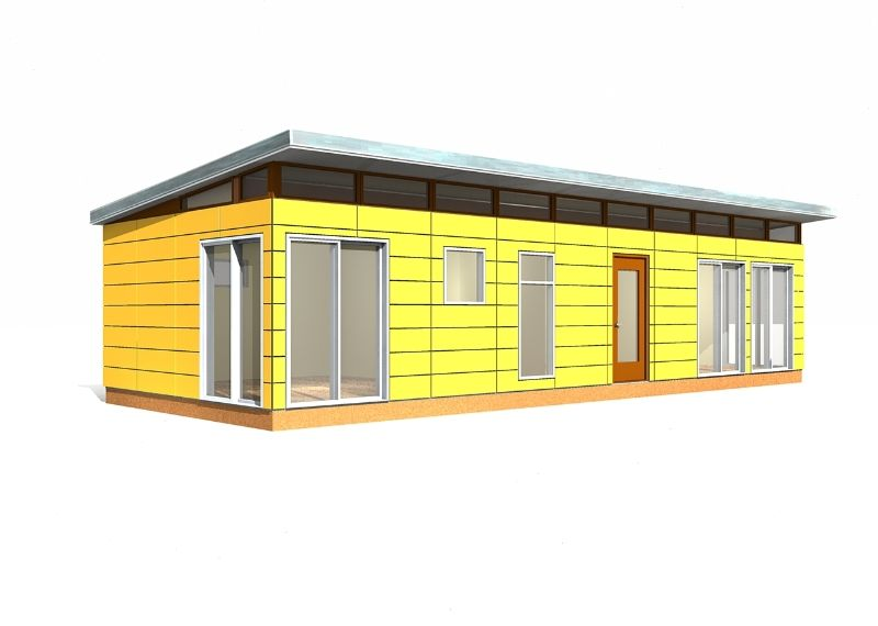 Modern-Shed Prefab Dwelling Kit: 16' x 40' | Cheap prefab house