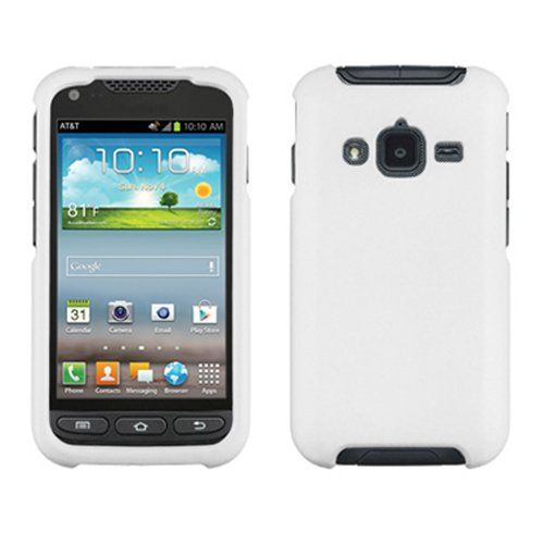 cool iFase Brand Samsung Galaxy Rugby Pro i547 Cell Phone Rubber White  Protective Case Faceplate Cover 779bf0cd7