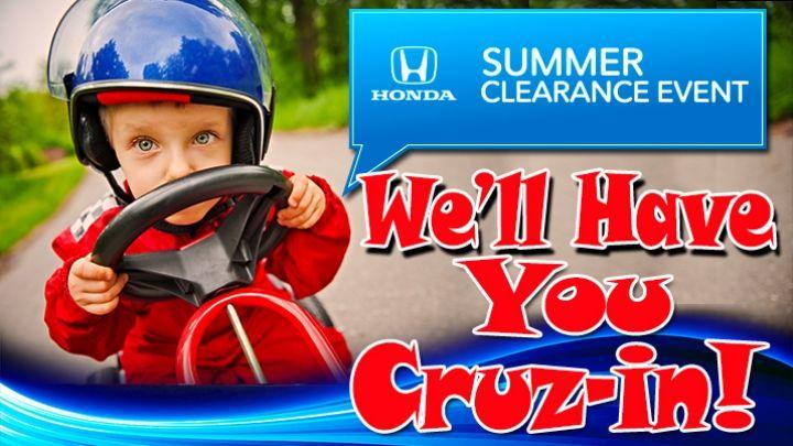We'll have you cruisin! Honda