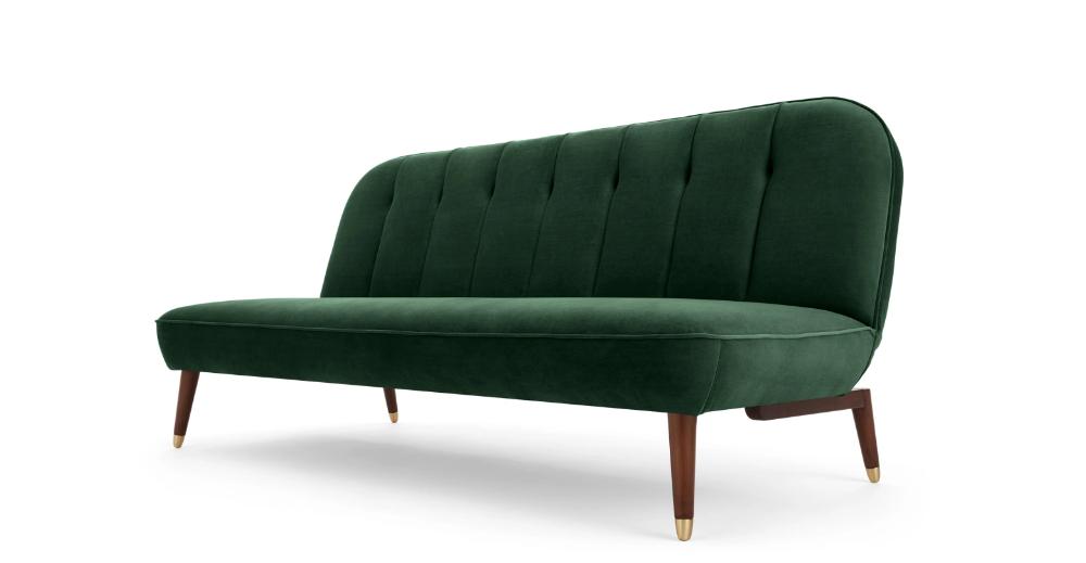 Margot Click Clack Sofa Bed, Pine Green Velvet