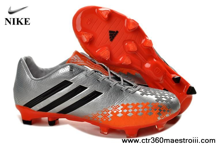 Buy Silver Orange Adidas Predator LZ TRX FG Football Shoes