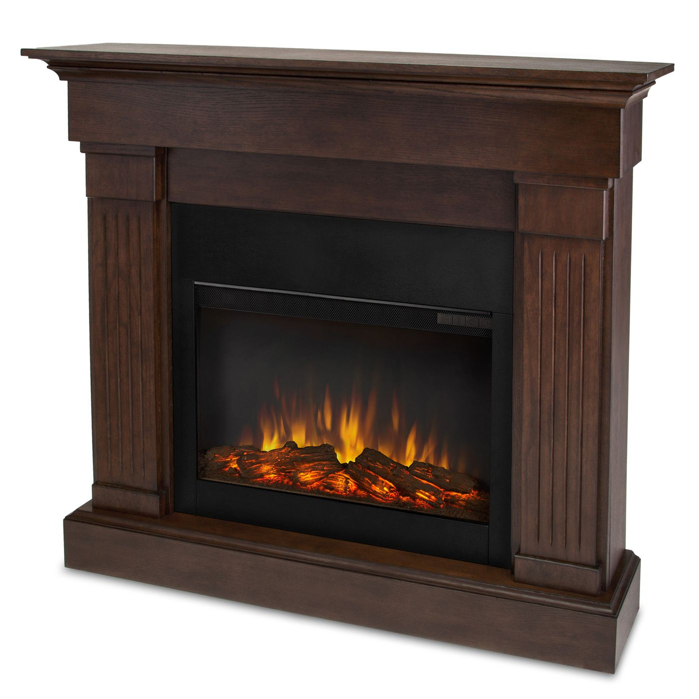 Real Flame 47 4 In W Chestnut Oak Led Electric Fireplace Indoor