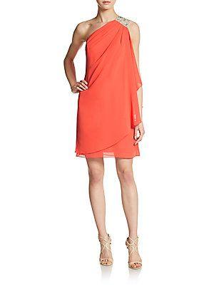 Embellished One-Shoulder Drape Dress - now $62.99 (65% off!)