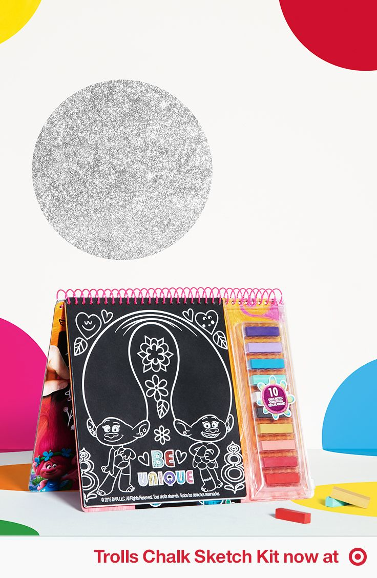 Rock Your True Colors With The Trolls Chalk Sketch Kit