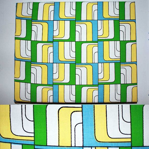 Wall Hanging Blue Yellow Green by juliateal on Etsy