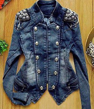 Fantabulous Embellished Jean Jacket Denim Fashion Denim Women Embellished Jeans