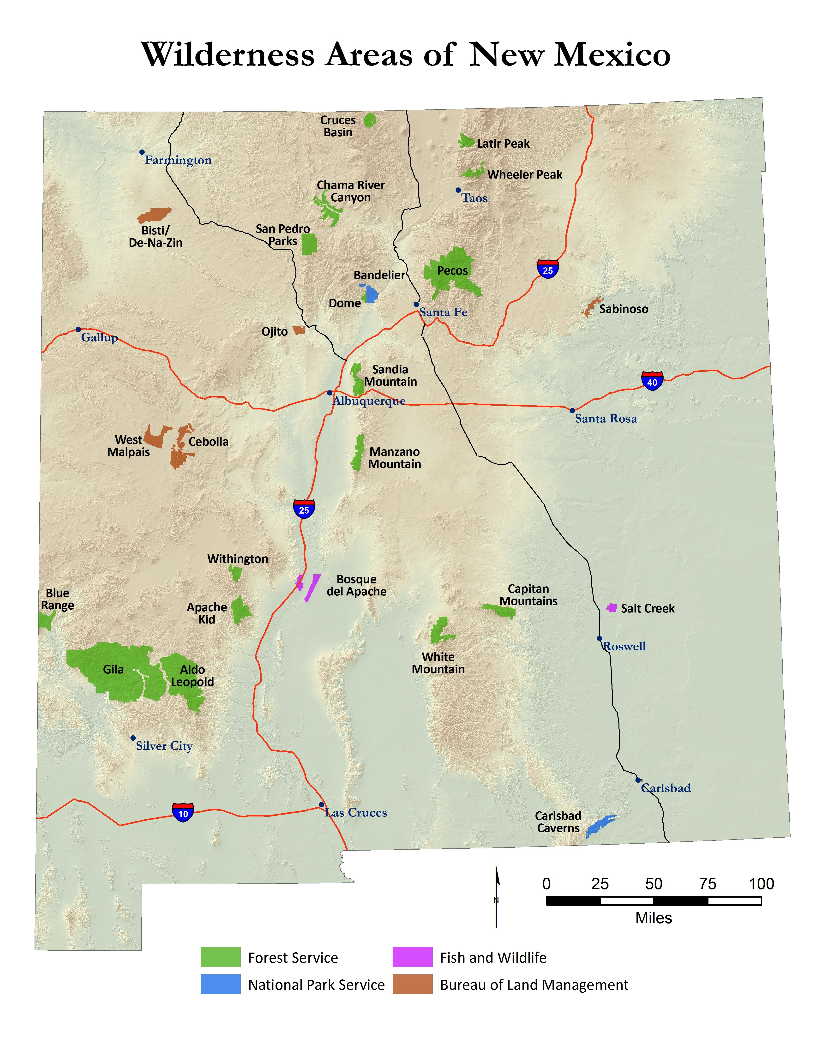 New Mexico currently has 25 official wilderness areas. The state ...