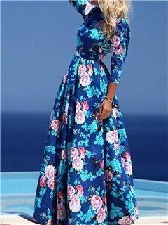 ericdress vestido maxi floral bohemio