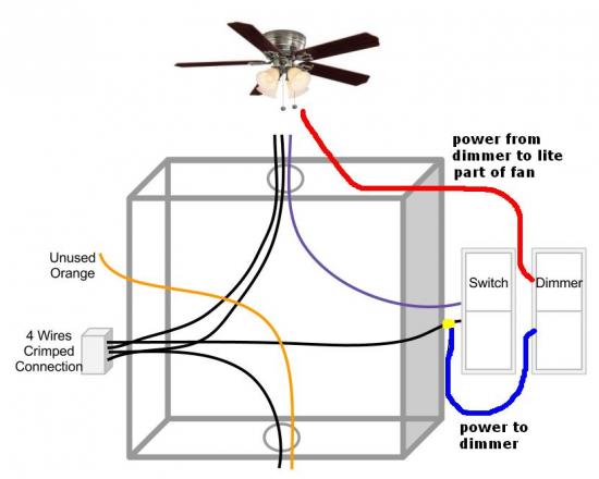 Ceiling Fan Light On Dimmer Switch Fan On Normal Switch Cpfvd Jpg Fan Light Switch Fan Light Ceiling Fan With Light