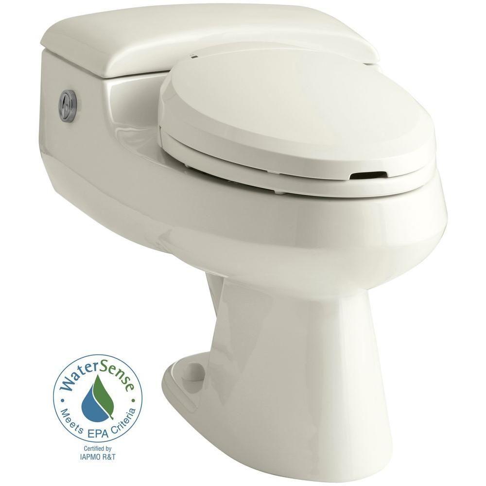 Kohler San Raphael Comfort Height 1 Piece 1 0 Or 1 4 Gpf Dual Flush Elongated Power Lite Toilet With C3 Toilet Seat In Biscuit Dual Flush Toilet