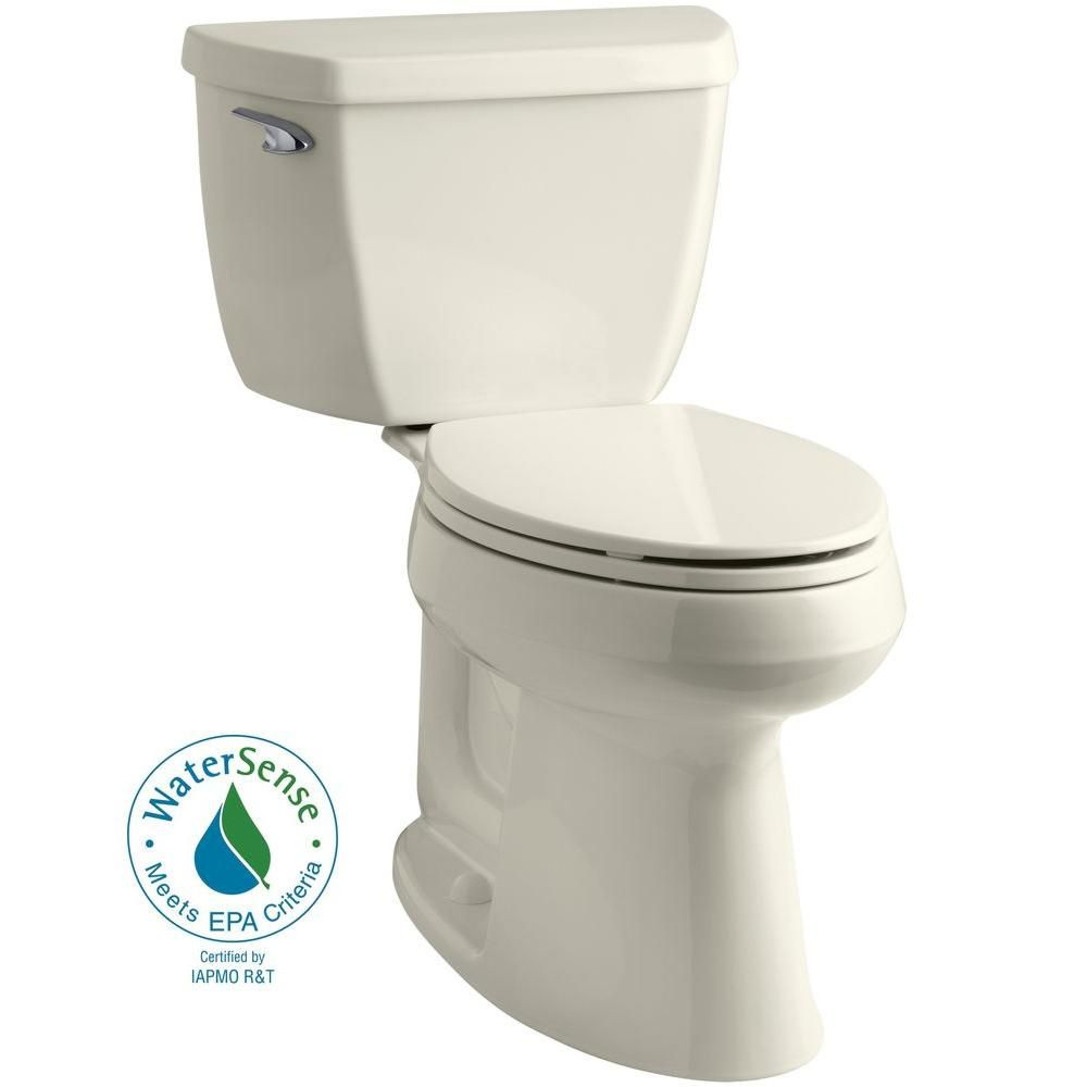 KOHLER Highline Classic the Complete Solution 2-piece 1.28 GPF Single Flush Elongated Toilet in Biscuit-K-11499-96 - The Home Depot