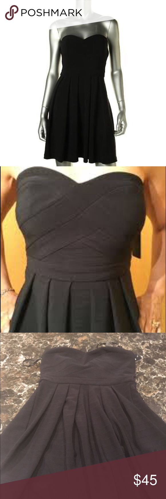 Guess black dress Black formal guess dress. Anise style. Never worn with tags. GUESS Dresses Mini