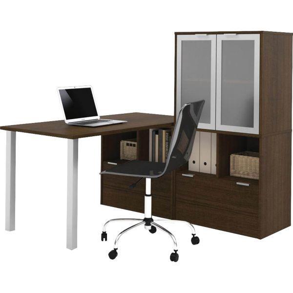 i3 by Bestar L-Shaped desk in Tuxedo Staples Office Space