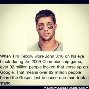 Love this. Love him. Tim Tebow is amazing