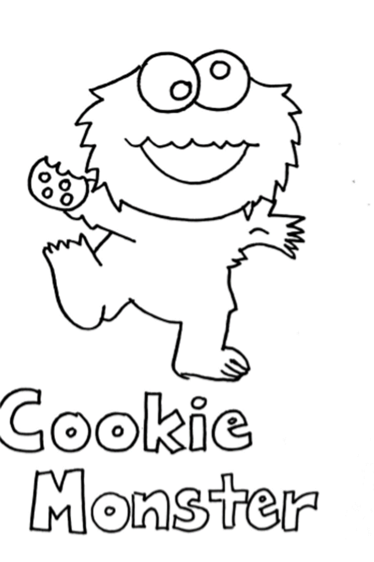 cookie monster coloring pages for kids | Monster coloring ...