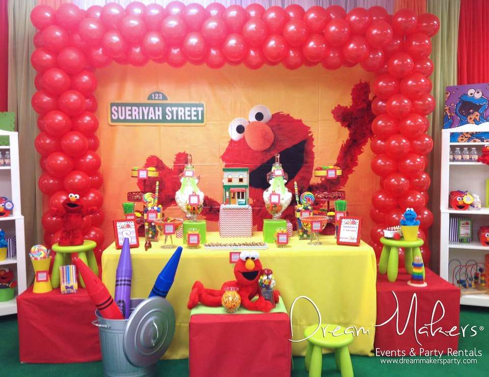 Elmo Sesame Street Birthday Elmo 1st Birthday Party Elmo