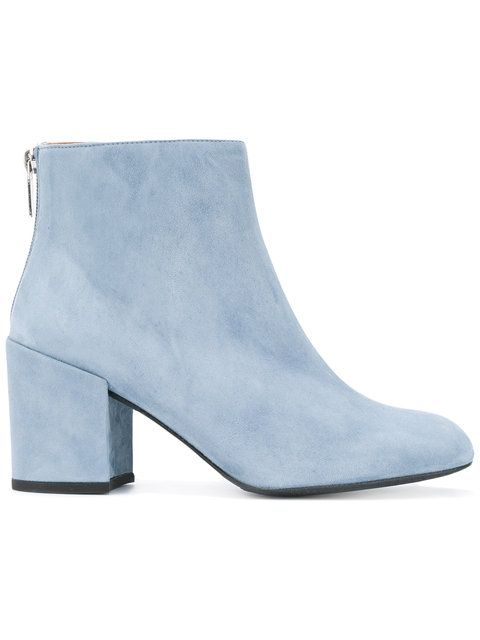 Blue suede boots, Blue leather boots