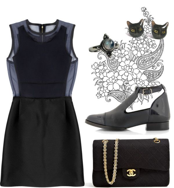 """love love love black"" by dancingsheep ❤ liked on Polyvore"