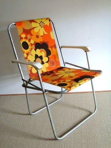 Silla De Camping De La Vendimia Chaise De Camping Camping Vintage Chaise Pliante Camping