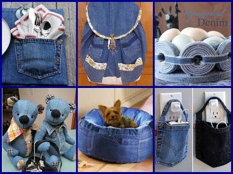 Reuse of old jeans basket made from old jeans best out of for Diy crafts with waste materials