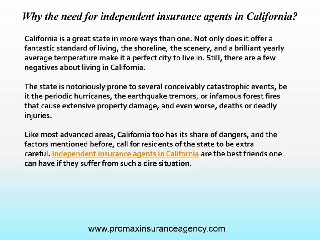 Homeowners Insurance Quote Online Cool Independent Insurance Agents In California Usually Represent More