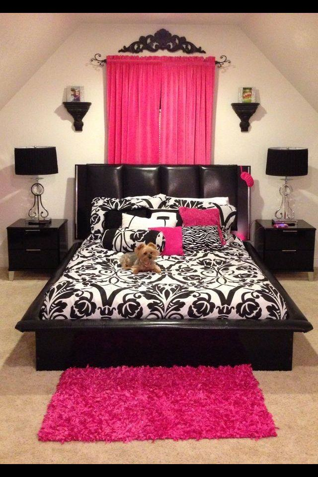 Love The Pink In This Room Pink Bedrooms Girl Room