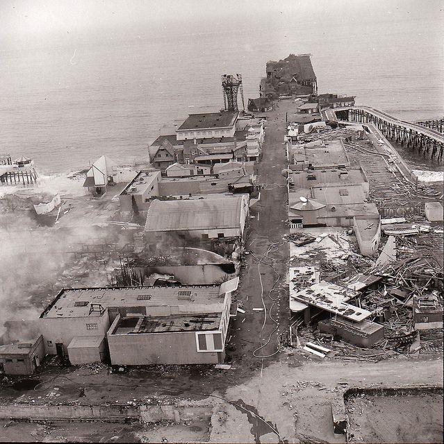 Marion Davies Beach House Tours: Pacific Ocean Park Pier Fire 1970