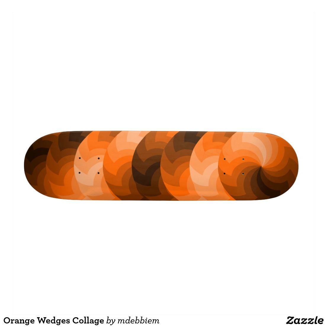 Orange Wedges Collage Skateboards