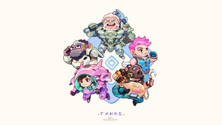Overwatch Tank Heroes Wallpaper
