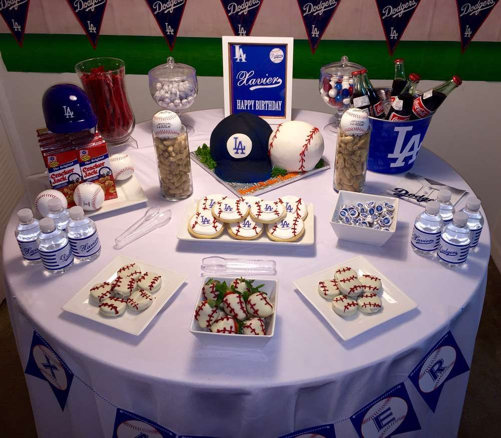 Los Angeles Dodgers Birthday Party Ideas