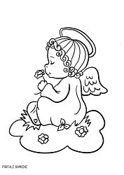 Disegni di angeli e angioletti da stampare e colorare for Immagini angeli da colorare