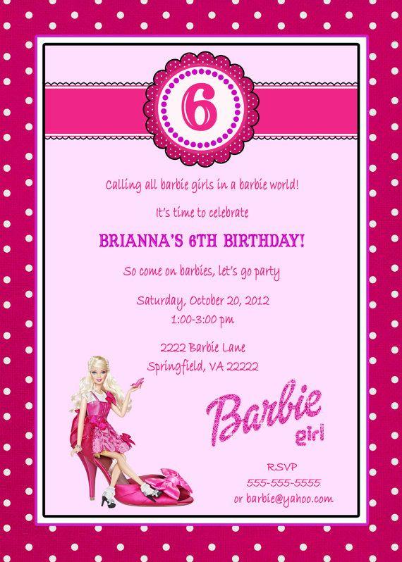 5x7 barbie milestone invitation available by announcementsplus 5x7 barbie milestone invitation available by announcementsplus 1500 filmwisefo Choice Image